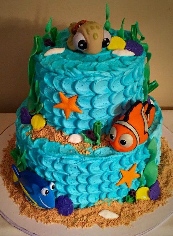 Cake Decorations Nemo : 40 Finding Dory Birthday Party Ideas - Pretty My Party
