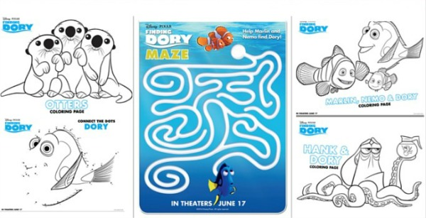 Coloring Pages, Finding Dory Birthday Party Ideas | Pretty My Party