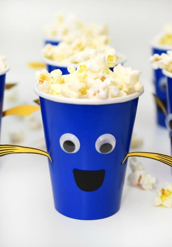 DIY Dory Snack Cups, Finding Dory Birthday Party Ideas | Pretty My Party