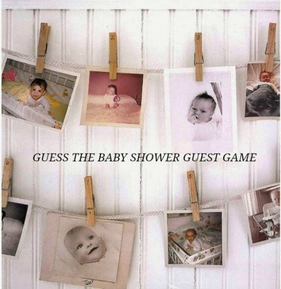 Guess the Guest, 15 Entertaining Baby Shower Games via Pretty My Party