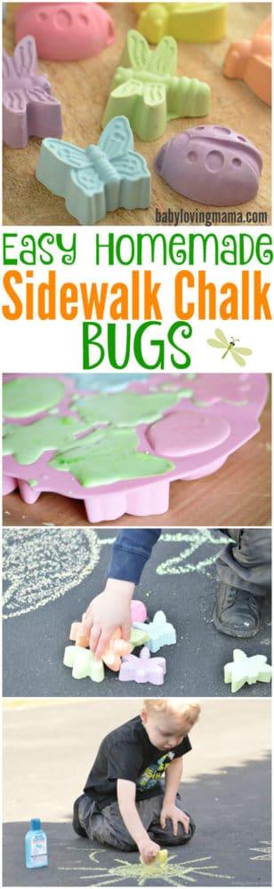 DIY Sidewalk Chalk Favors | Budget Birthday Favors via Pretty My Party