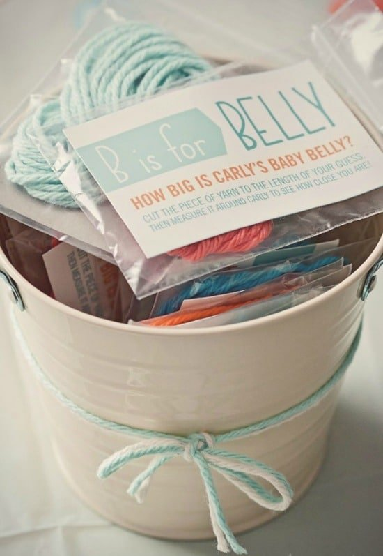 Measure Moms Belly, 15 Entertaining Baby Shower Games via Pretty My Party