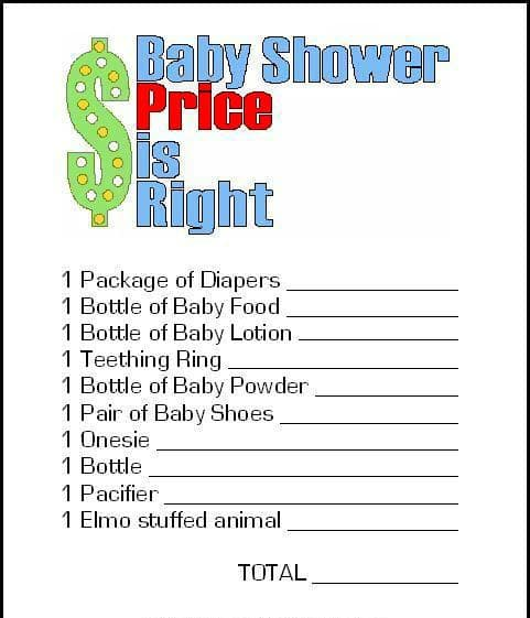 Price is Right Baby Shower Game, 15 Entertaining Baby Shower Games via Pretty My Party