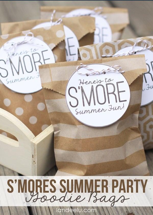 Smores Favors | Budget Birthday Favors via Pretty My Party
