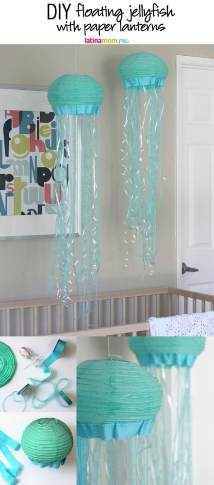 Diy Floating Jellyfish Finding Dory Birthday Party Ideas Pretty My Party