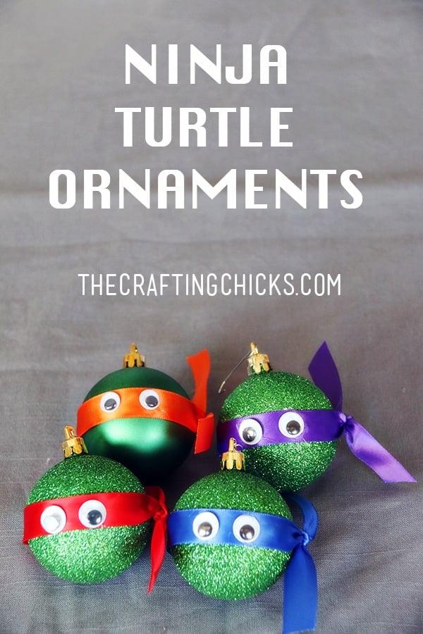 DIY Ninja Turtle Ornament Favors | Budget Birthday Favors via Pretty My Party
