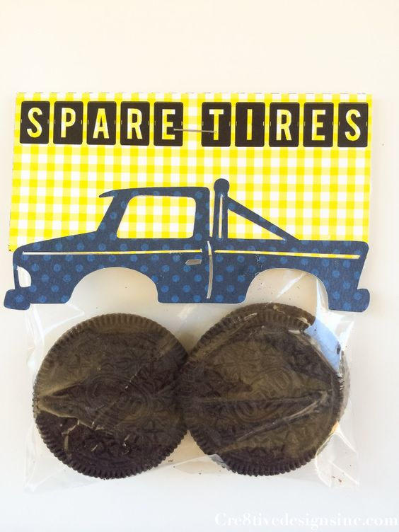 DIY Monster Truck Oreo Favors | Budget Birthday Favors via Pretty My Party