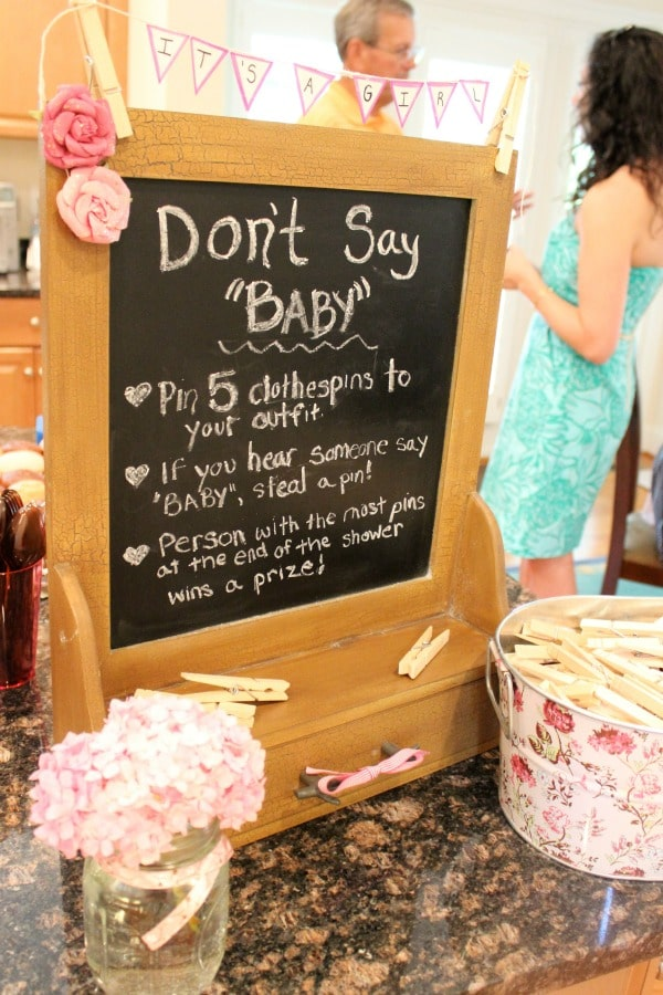 Baby Shower Games - Don't Say Baby