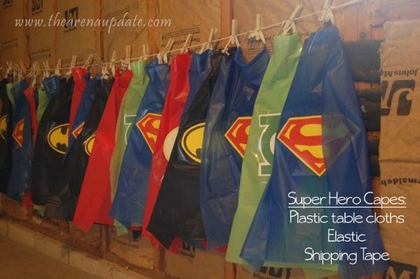 Easy DIY Superhero Capes | Budget Birthday Favors via Pretty My Party