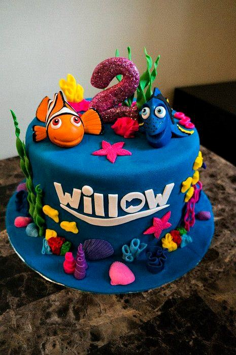 Cake, Finding Dory Birthday Party Ideas | Pretty My Party