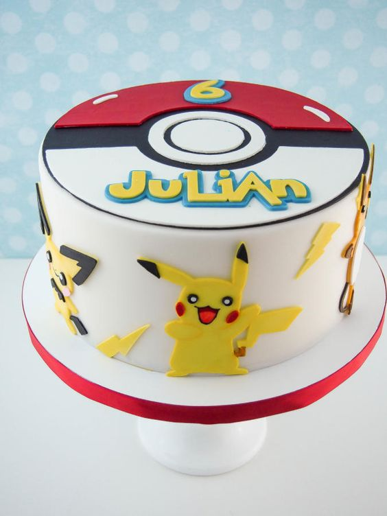Pokemon Cake, Creative Pokemon Birthday Party Ideas via Pretty My Party