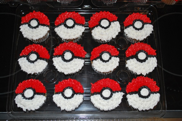 Pokemon Cupcakes, Creative Pokemon Birthday Party Ideas via Pretty My Party