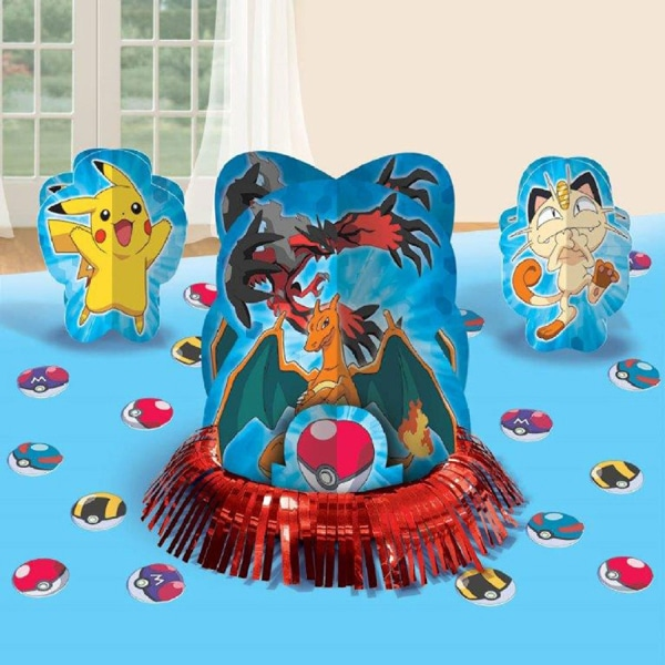 Pokemon Table Decorations, Pokemon Party Ideas via Pretty My Party