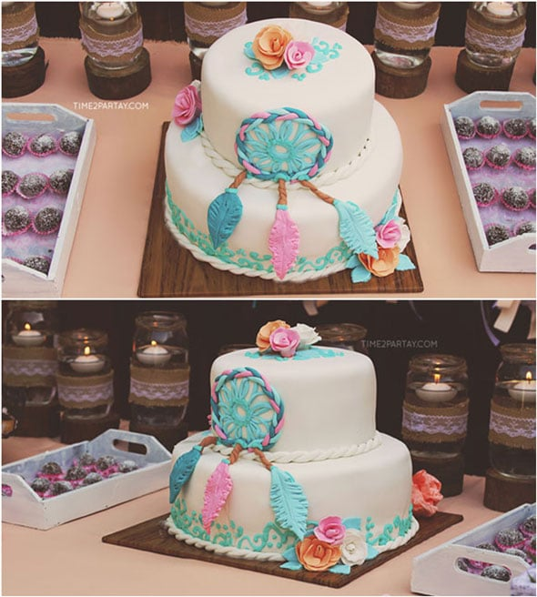 Dream-Catcher-Cake-Detail