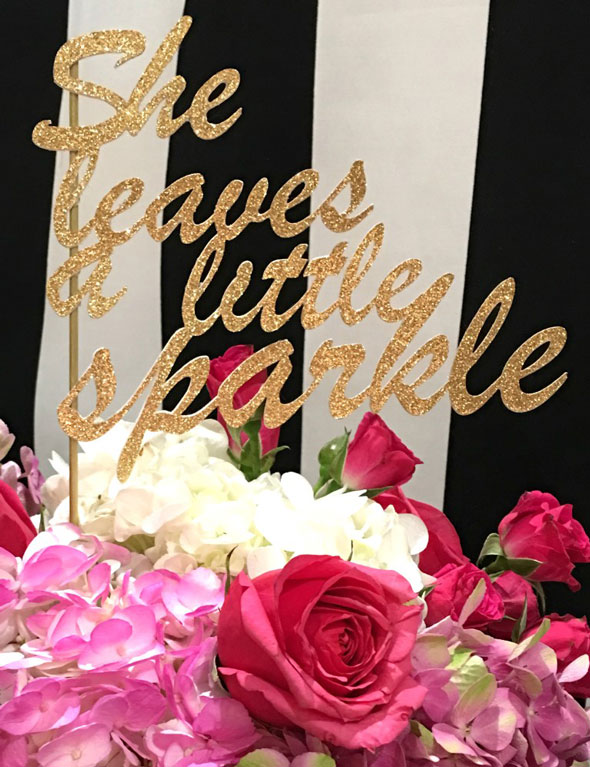 Kate Spade Birthday Cake Topper Idea via Pretty My Party