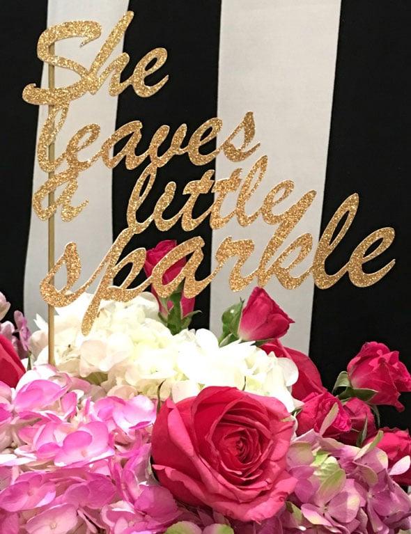 Kate Spade Birthday Cake Topper Idea via Pretty My Party