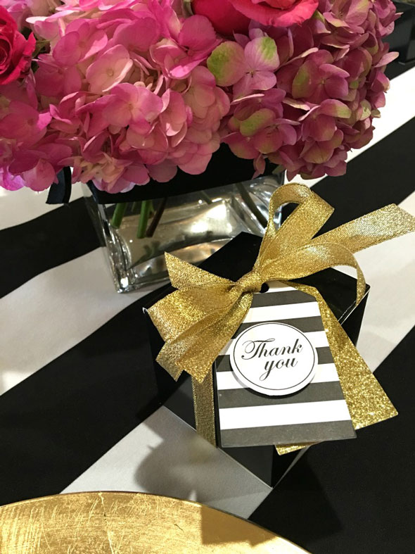 Kate Spade Birthday Celebration Favors via Pretty My Party