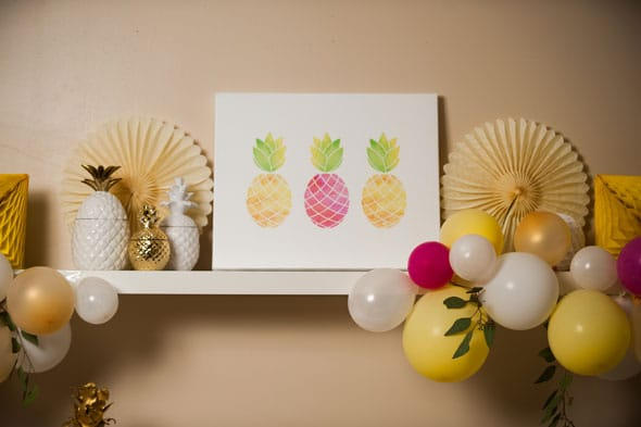 Pineapple Themed Bridal Shower art print via Pretty My Party