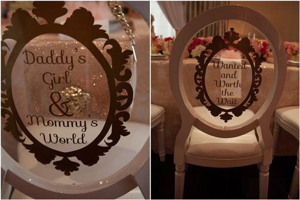 Tutu Cute Baby Shower Chair Vinyl via Pretty My Party