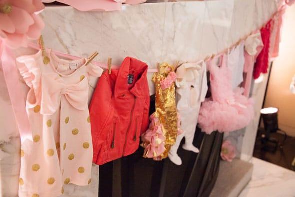 Tutu Cute Baby Shower Onesies via Pretty My Party
