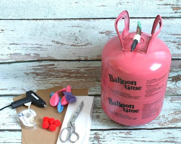 Supplies, DIY Ice Cream Cone Balloons via Pretty My Party