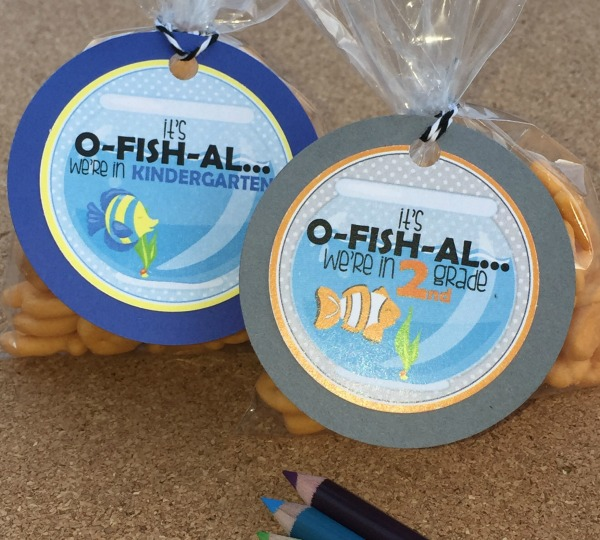 New School Year Free Printable Fish Treat Tags via Pretty My Party