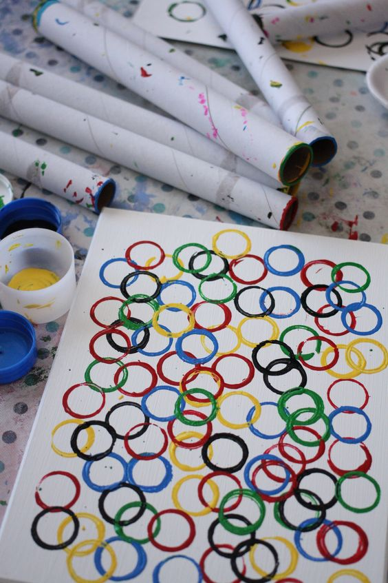 13 creative olympic party ideas pretty my party for Arts and crafts sets for kids