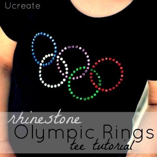 Rhinestone Olympic Rings Tee, 13 Creative Olympic Party Ideas via Pretty My Party