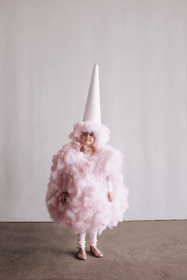 DIY Cotton Candy Kids Halloween Costume