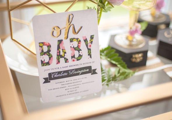 Modern Garden Baby Shower Tiny Prints Stationary via Pretty My Party