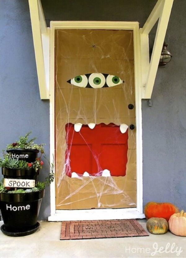 Paper Bag Halloween Monster Door