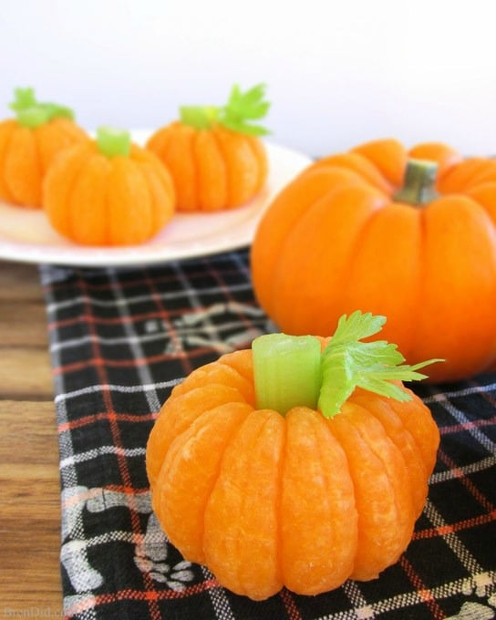 Tangerine Pumpkins, Healthy Halloween Treats