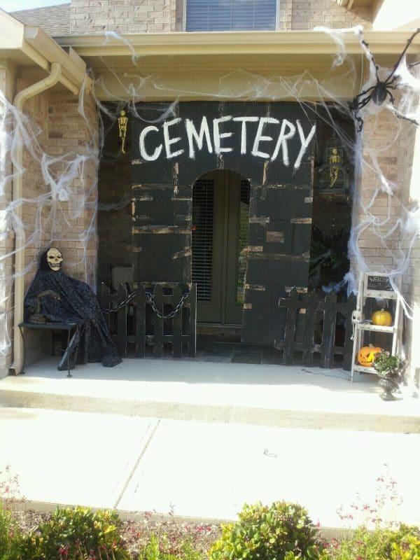 Cemetery Door Entrance Halloween Door Decorations