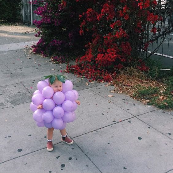 Grape Balloon Halloween Costume For Kids