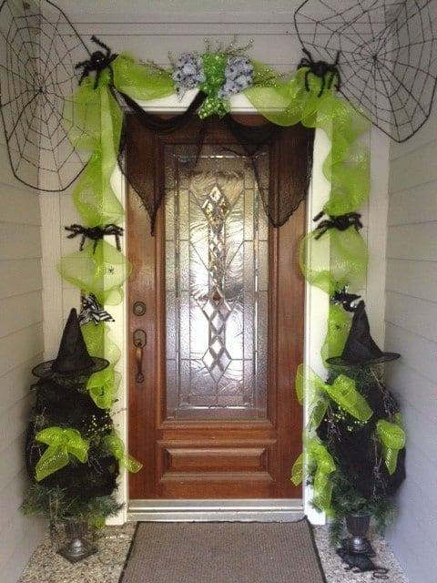 Dollar Store Halloween Door Decorations