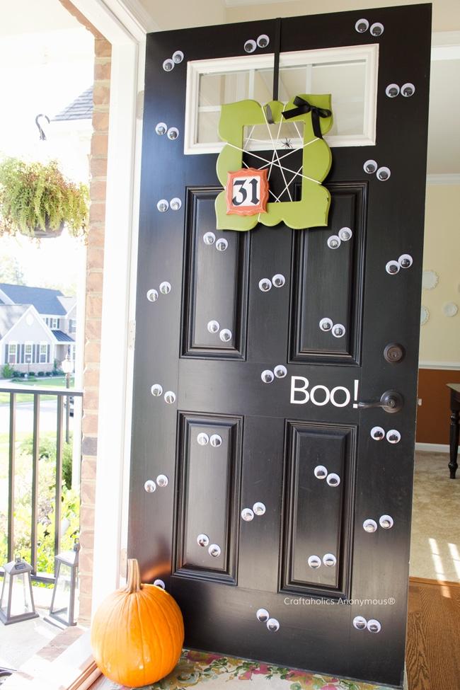 Googly Eyes Halloween Door Decorations
