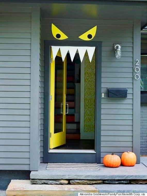 Monster Door Halloween Door Decoration Ideas