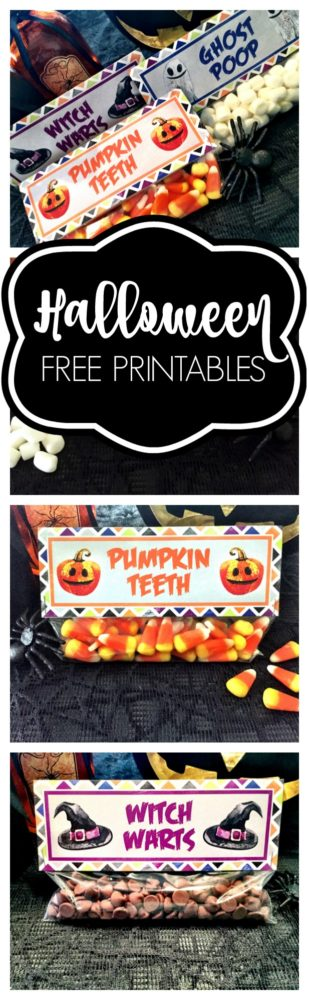 Free Halloween Treat Bag Toppers - Pretty My Party