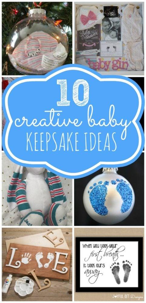 10 Creative Baby Keepsake Ideas via Pretty My Party
