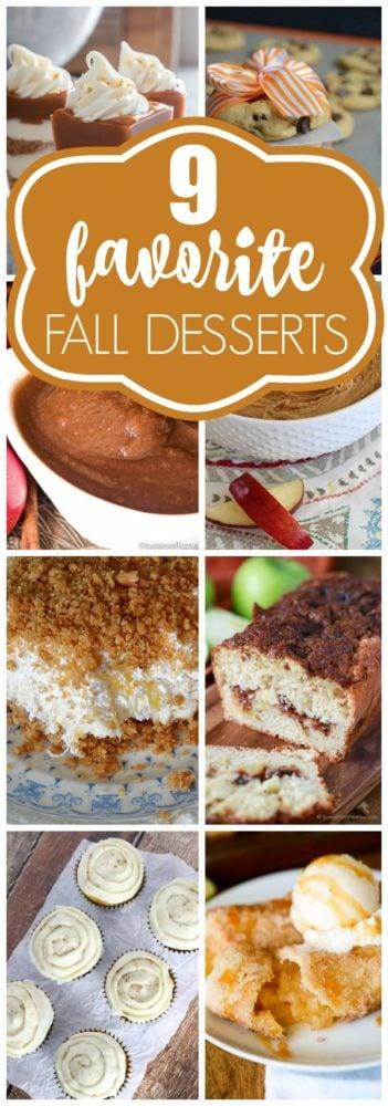 9 Favorite Fall Dessert Recipes via Pretty My Party