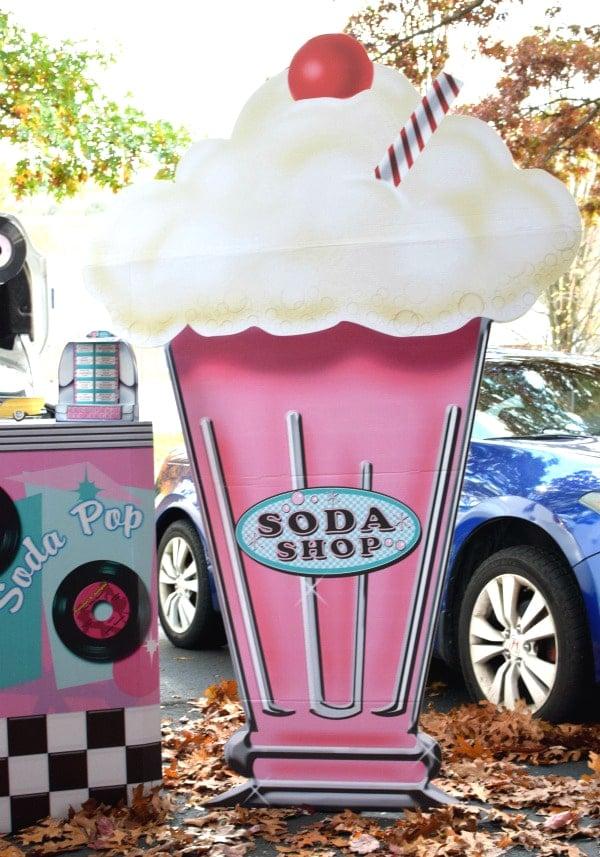 Fifties Soda Shop Halloween Trunk Theme via Pretty My Party