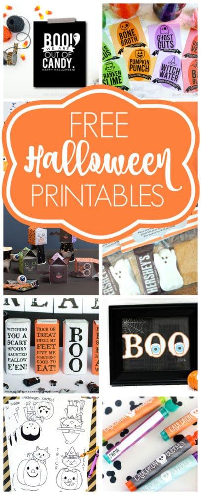 Free Halloween Printables via Pretty My Party