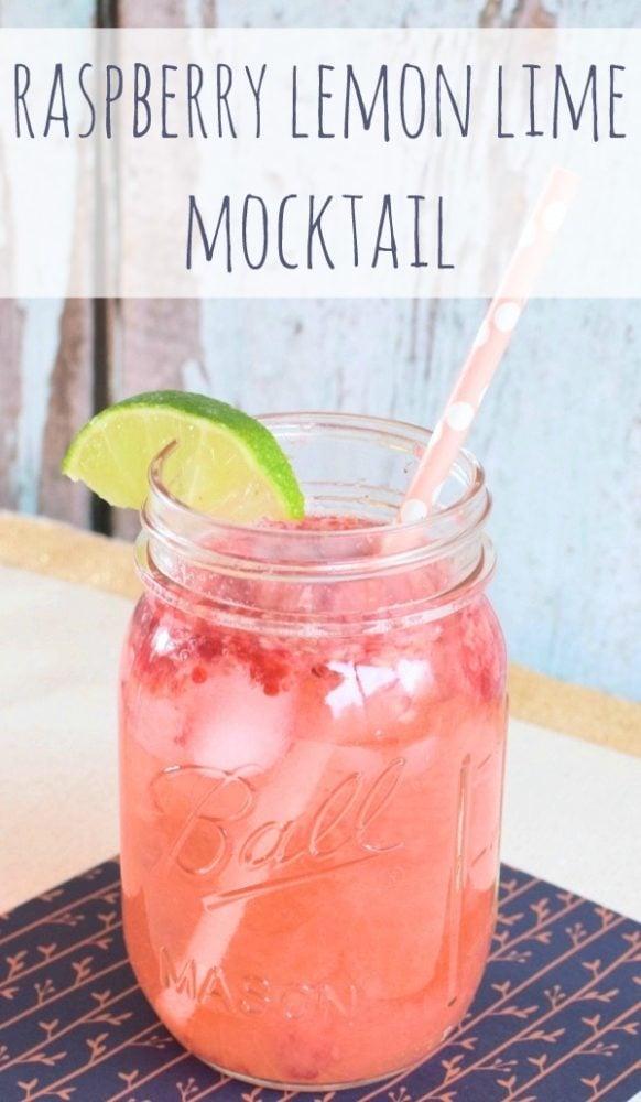 Raspberry Lemon Lime Mocktail - Pretty My Party