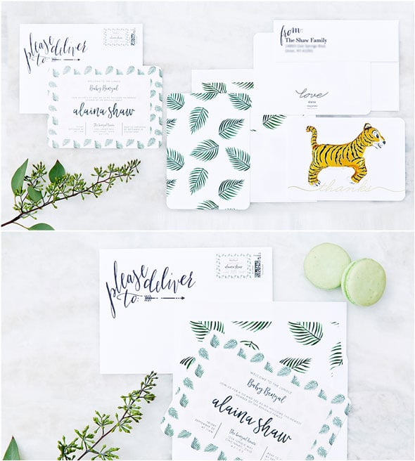 Welcome to the Jungle Baby Shower Invitations via Pretty My Party