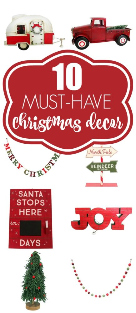 10 Christmas Decor Must Haves | Pretty My Party