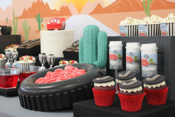 Disney's Cars Themed Birthday Party Desserts | Pretty My Party