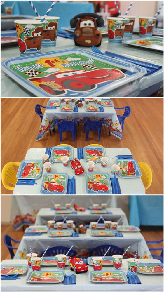 Disney's Cars Themed Birthday Party Table Setting | Pretty My Party
