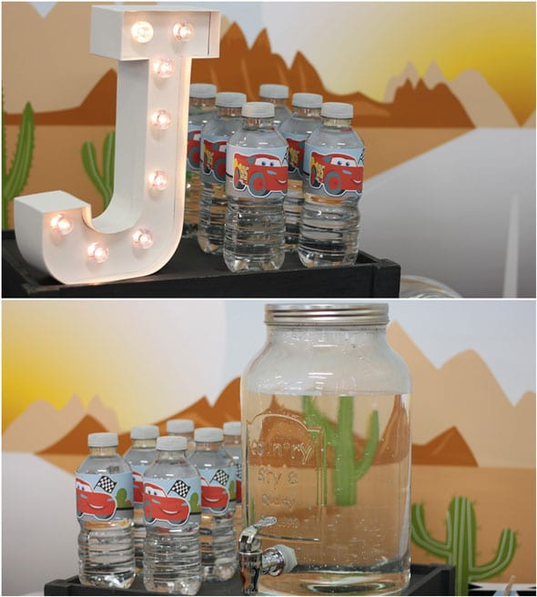 Disney's Cars Themed Birthday Party Drink Station | Pretty My Party