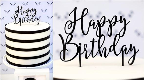 Party Like a Panda Birthday Party Cake Topper via Pretty My Party