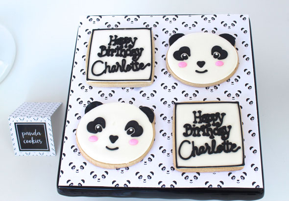 Party Like a Panda Birthday Party Cookies via Pretty My Party